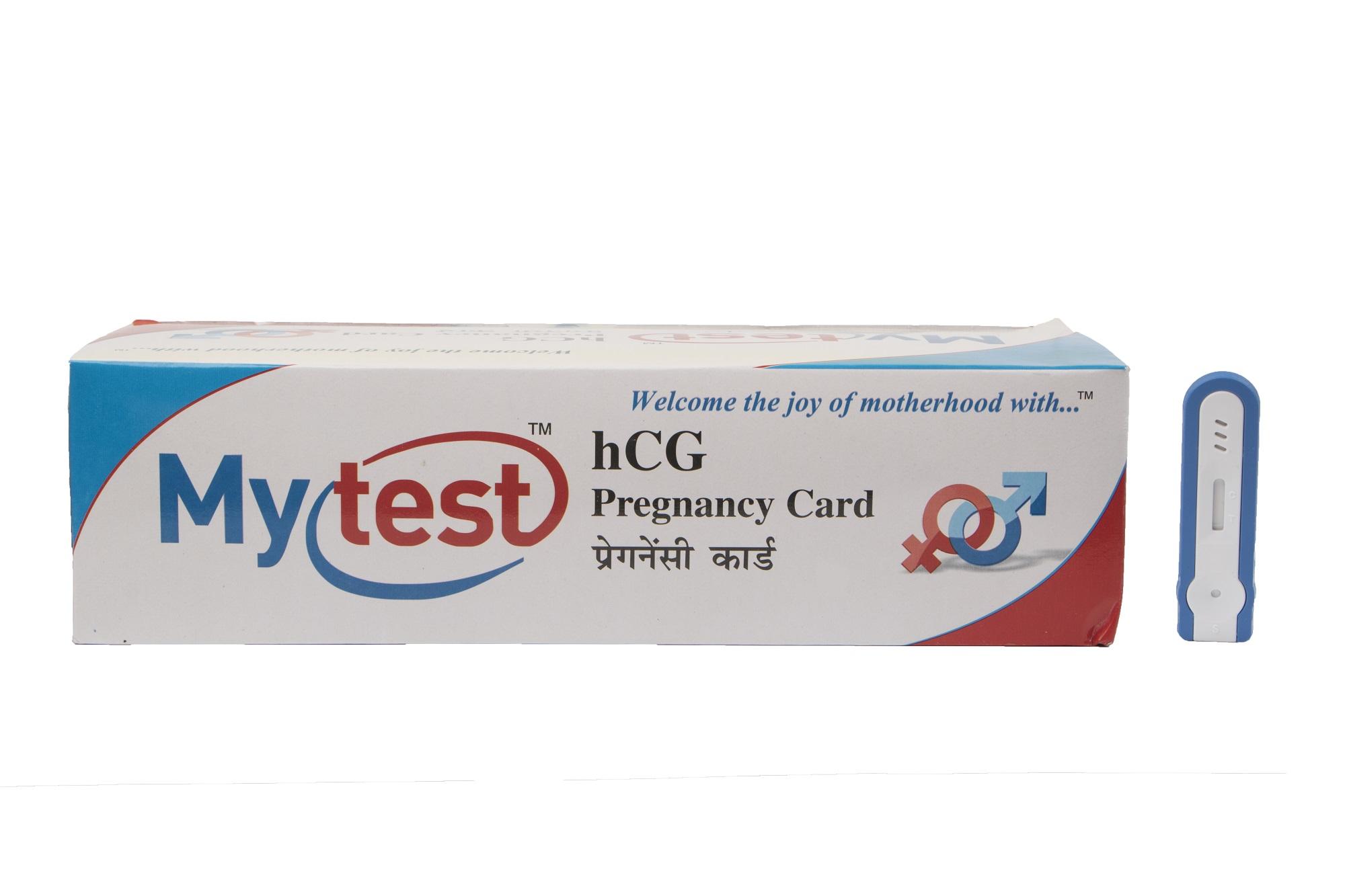 Mytest hCG Pregnancy Card
