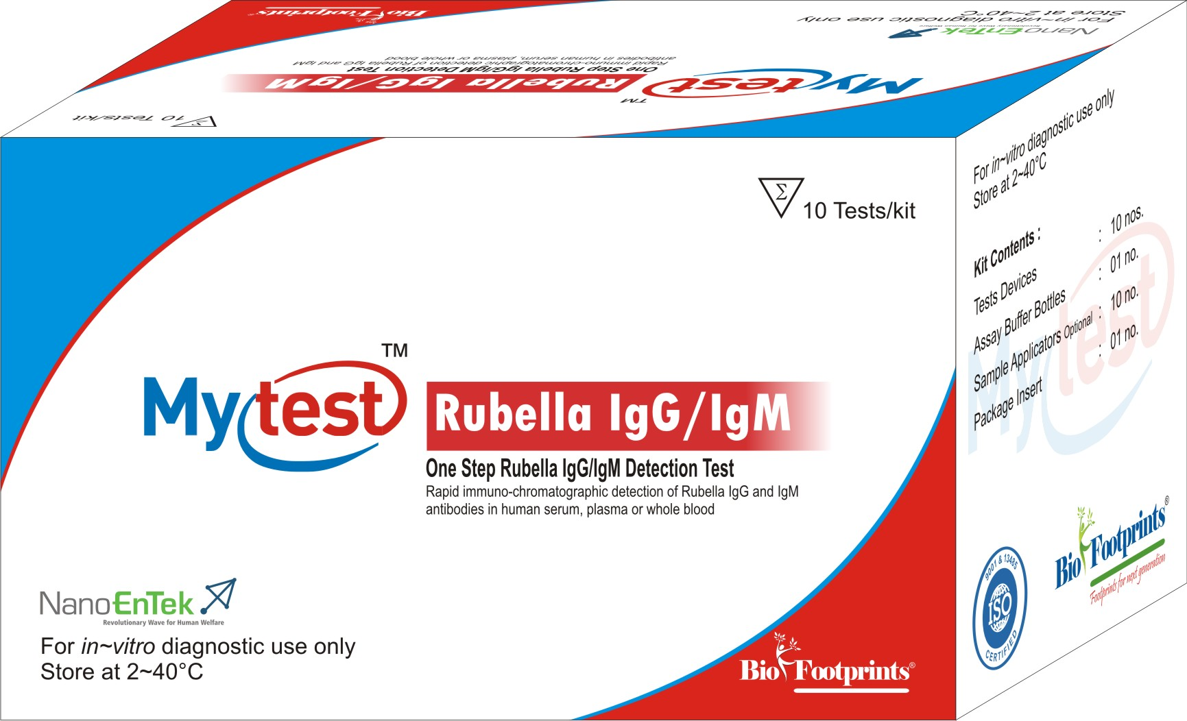 Mytest Rubella IgG/IgM