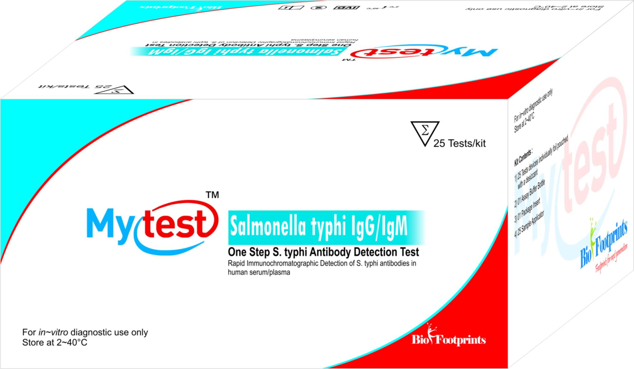 Mytest Salmonella typhi IgG/IgM